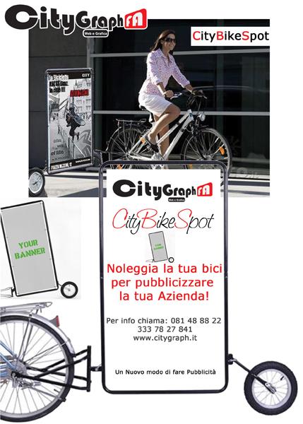 Citygraph Napoli Biciclette Pubblicitarie Noleggio con conducente